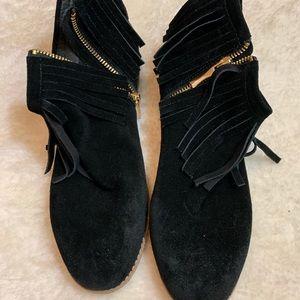 Black Kate spade suede booties